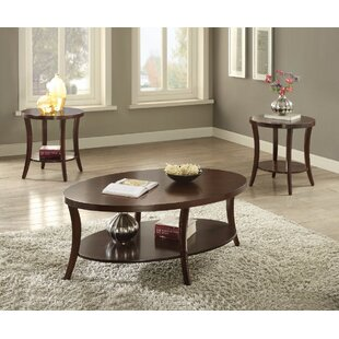 Rempe Graceful 3 Piece Coffee Table Set
