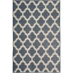 Boehm Charcoal/Tan Indoor/Outdoor Area Rug by Charlton Home