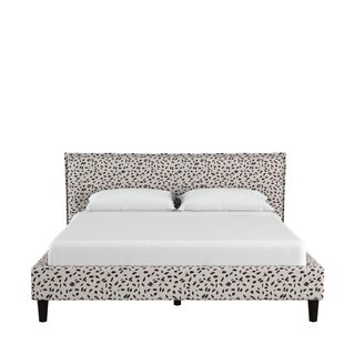 Grays Ferry Seamed Neo Leo Upholstered Panel Bed