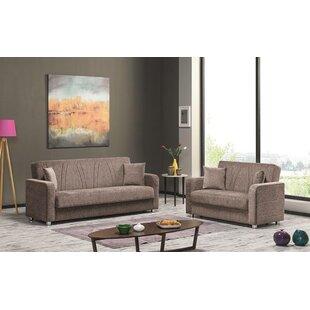 AlexisJade 2 Pieces Sleeper Living Room Set by Ebern Designs