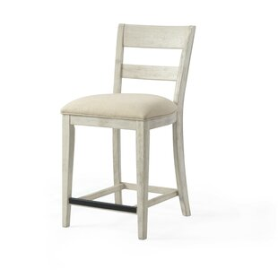 Gracie Oaks Zamora Ladder Back Bar Stool ..
