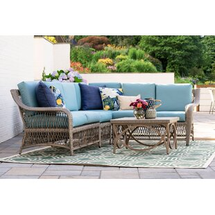 Kew Gardens 5 Piece Sectional Seating Group with Cushions