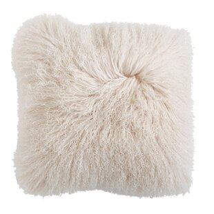 Ahern Mongolian Lamb Fur Throw Pillow