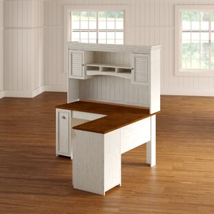 Find Oakridge L-Shaped Executive Desk with Hutch By Beachcrest Home