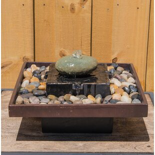 Wildon Home ® Concrete Tranquil Indoor Table Fountain