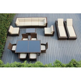 Ohana 16 Piece Complete Patio Set With Cushions By Ohana Depot