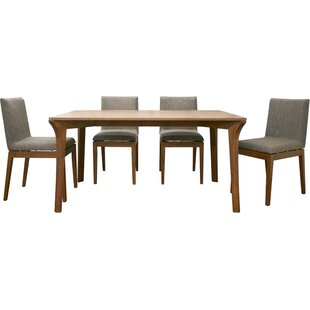 Pericles 5 Piece Dining Set Union Rustic