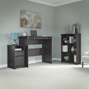 Red Barrel Studio Hillsdale Standing Desk with 6-Cube Bookcase and 2 Drawer Pedestal