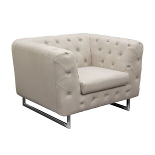 Catalina Tufted Chesterfield Chair by Diamond Sofa Design