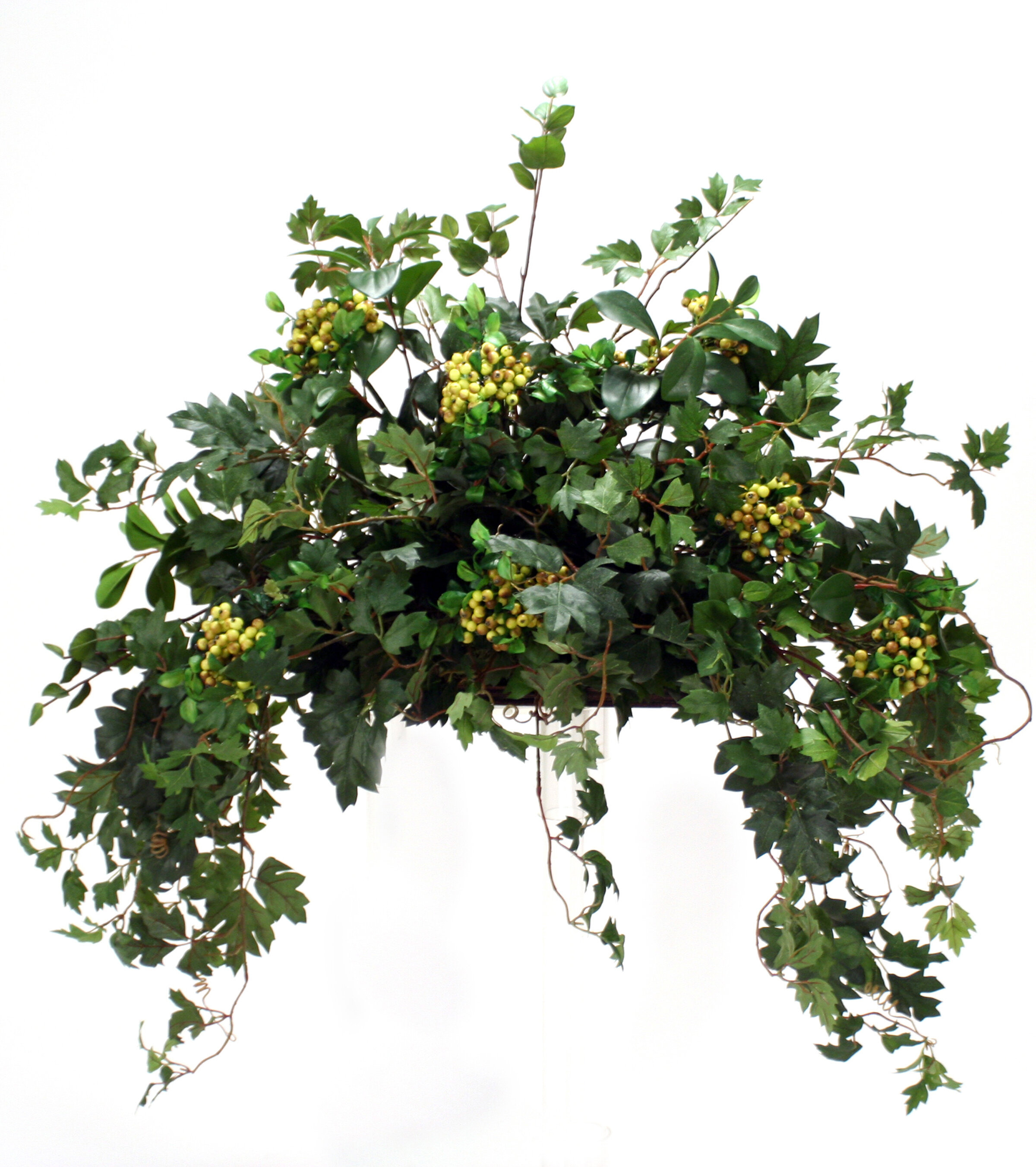 Distinctive Designs Topper With Silk Ivy Berries And Vines In