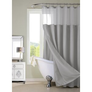 Guerrero Vinyl Shower Curtain with Detachable Liner
