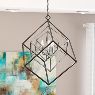 Pederson 3-Light Geometric Chandelier by Brayden Studio