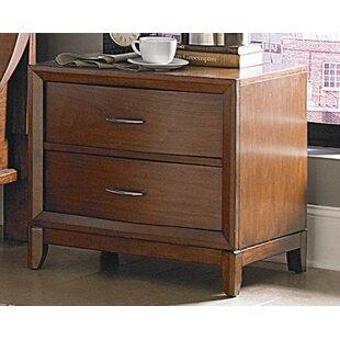 Corrigan Studio Eberly Wooden 2 Drawer Nightstand