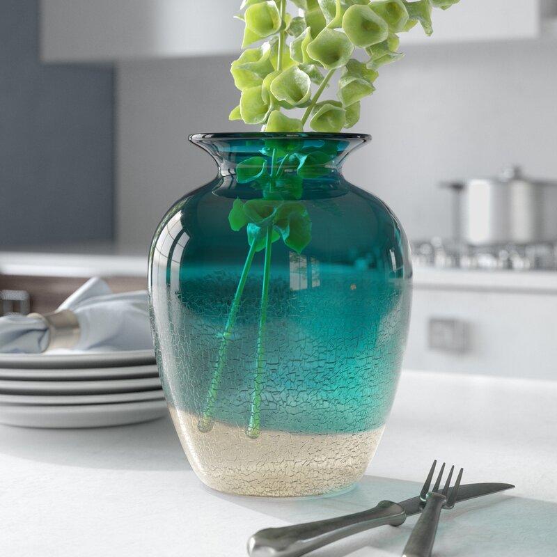 Orren Ellis Mikael Handblown Classical Tabletop Glass Vase Reviews