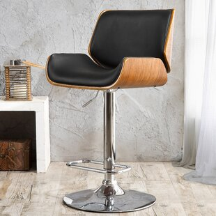 Chara Adjustable Height Swivel Bar Stool Orren Ellis