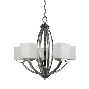 Anna 5-Light Shaded Chandelier by Whitfield Lighting