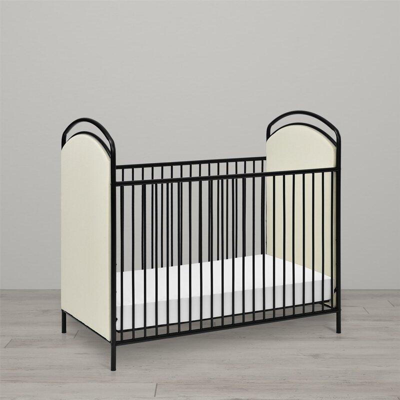 Rowan Valley Lotus Upholstered Metal Crib & Reviews | Joss & Main