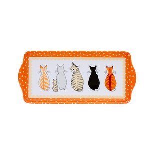 Cats In Waiting Serving Tray By Ulster Weavers