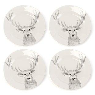 Snow Creek Deer Platter (Set of 4)