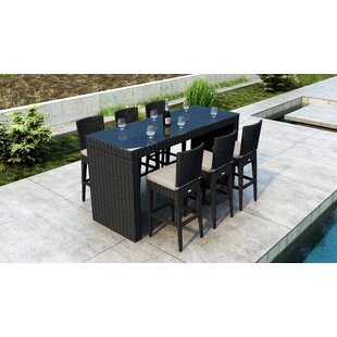 Glendale 7 Piece Bar Height Dining Set with Sunbrella Cushion