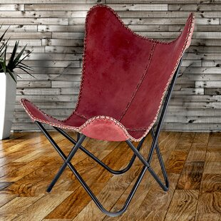 Leather Butterfly Lounge Chair by Fashion N You by Horizon Interseas