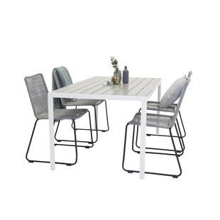 Hiran Dining Set With 4 Chairs By Sol 72 Outdoor