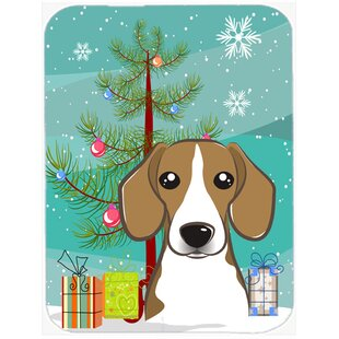 Reviews Under the Christmas Tree and Beagle Glass Cutting Board ByCaroline's Treasures