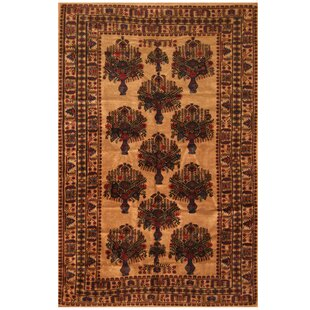 Affordable Price One-of-a-Kind Ebron Hand-Knotted 6'6 x 9'9 Wool Brown/Black Area Rug ByBloomsbury Market