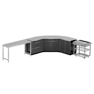 Outdoor Kitchen Set 210 W x 24 D 10 Pieces Aluminum by NewAge Products