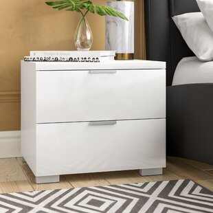 Louie 2 Drawer Nightstand by Wade Logan