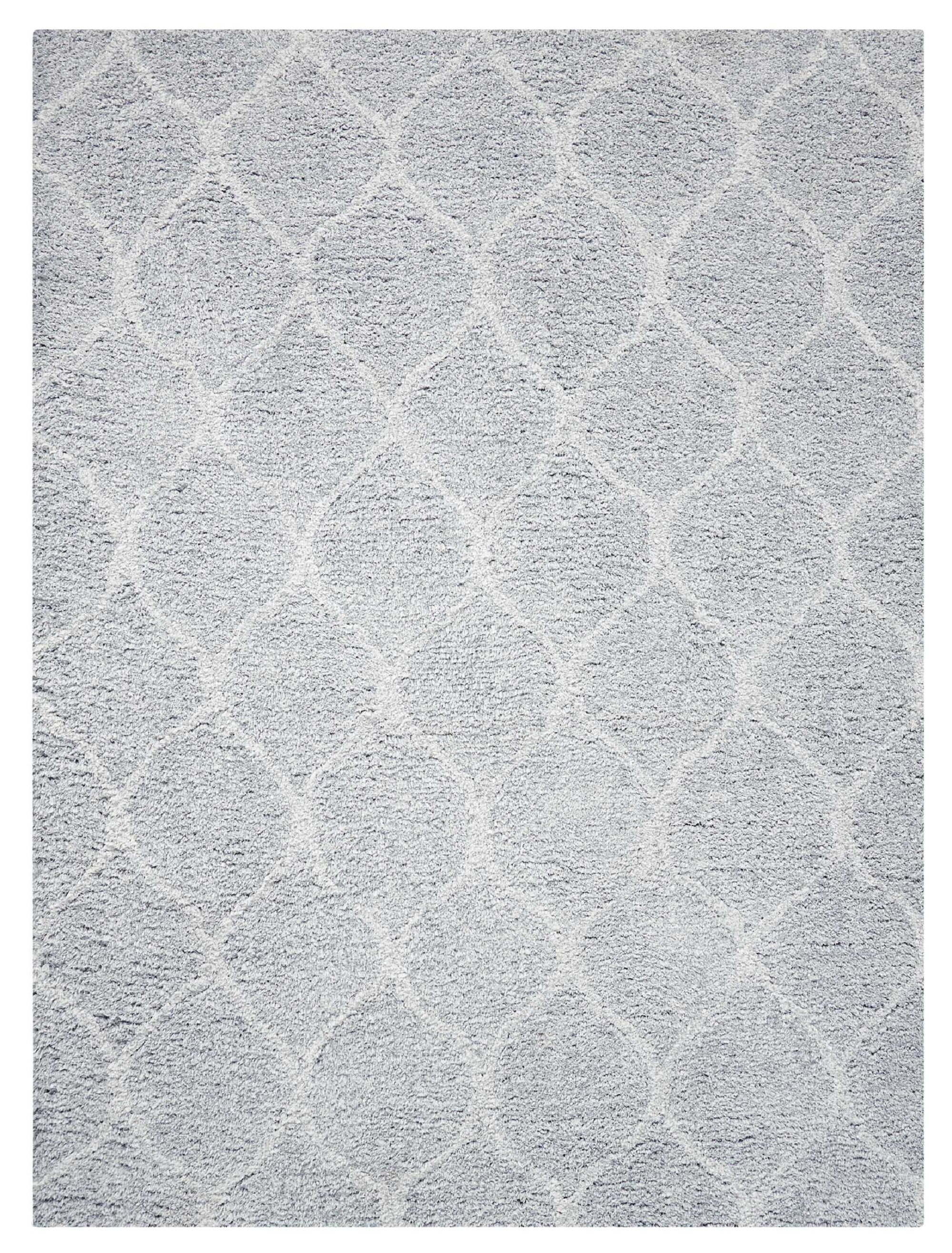 Foundstone Anthem Geometric Hand Tufted Light Gray Area Rug Reviews Wayfair