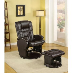Cuomhouse Swivel Glider and Ottoman