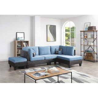 Almus Reversible Sectional with Ottoman by Winston Porter SKU:AB671750 Order