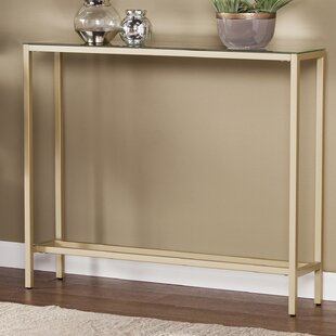 Romaine Console Table With Mirrored Top