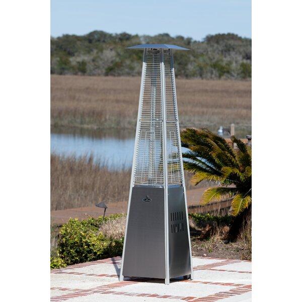 Fire Sense Pyramid Flame 40,000 BTU Propane Patio Heater U0026 Reviews | Wayfair