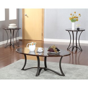 Borane 3 Piece Coffee Table Set Hokku Designs