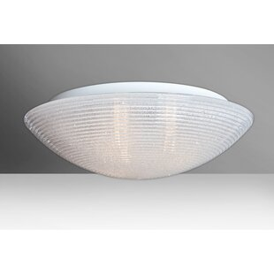 Besa Lighting Glitter 3-Light Outdoor Flush Mount