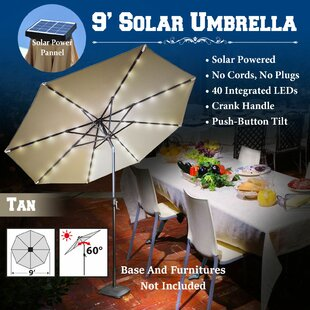 Latitude Run Abia 9' Lighted Umbrella