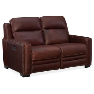 Aviator Leather Reclining Loveseat