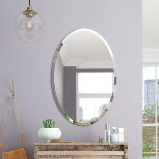 Coupon Thornbury Oval Bevel Frameless Wall Mirror By Brayden Studio