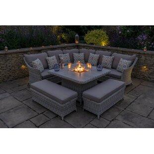 Ridgemoor 9 Seater Rattan Corner Sofa Set