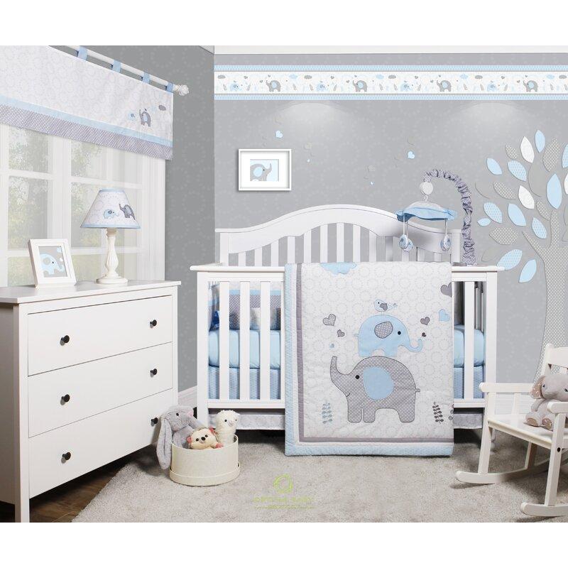 Harriet Bee Penney Elephant Baby Nursery 6 Piece Crib Bedding Set