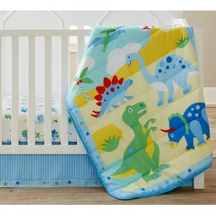 Best Price Dinosaur Land 3 Piece Crib Bedding Set By Wildkin