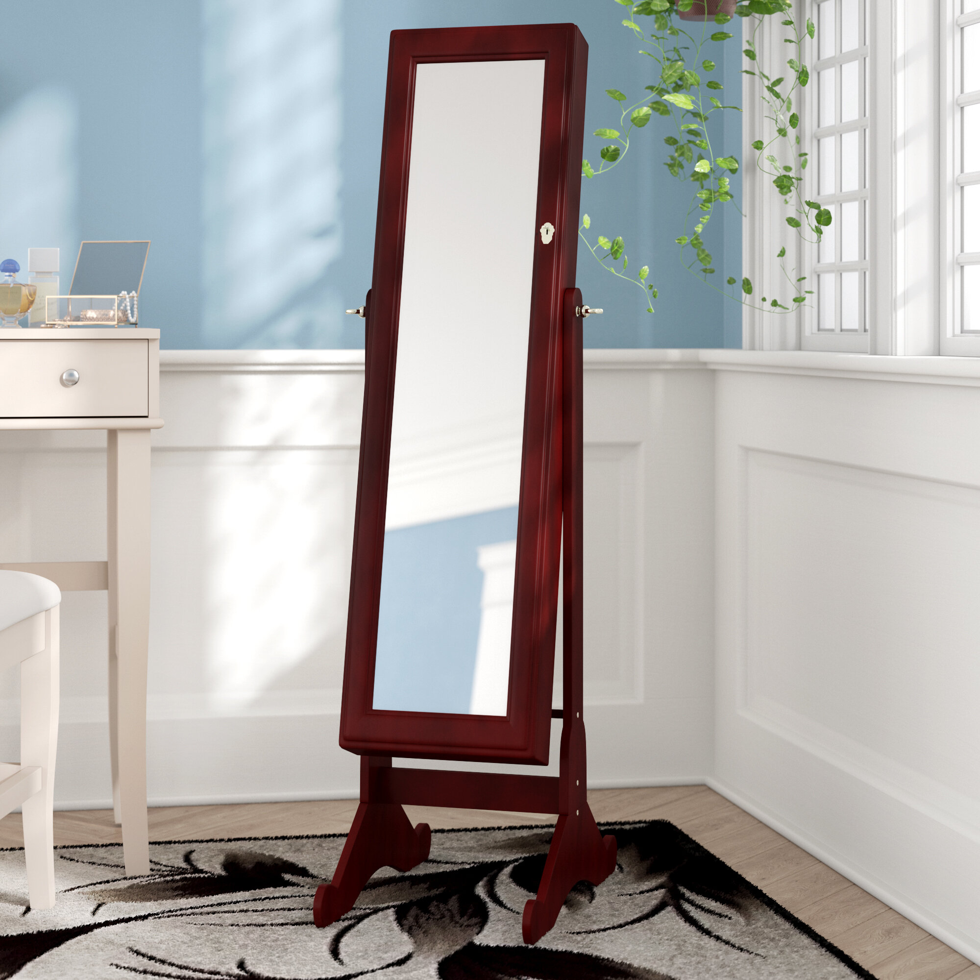 b8a0c1f65 Red Barrel Studio Free Standing Jewelry Armoire with Mirror & Reviews    Wayfair