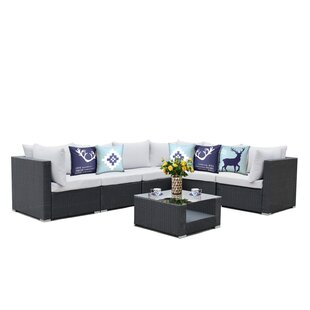 Roumfort Complete 7 Piece Sectional Set with Cushions