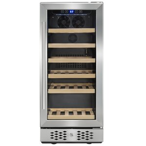 30 Bottle Compressor Single Zone Freestanding Wine Cooler by AKDY