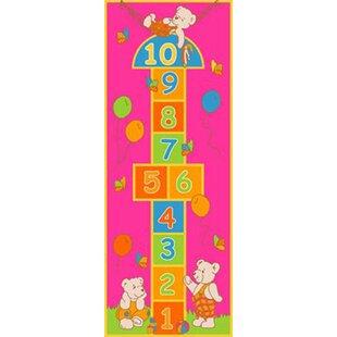 Compare & Buy Playful Hopscotch Pink Area Rug BySintechno