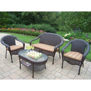 Rosecliff Heights Kingsmill 4 Piece Sofa Set with Cushions