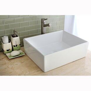 Comparison Elements Ceramic Rectangular Vessel Bathroom Sink ByKingston Brass