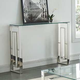 Review Menchaca Stainless Steel Console Table By House of Hampton